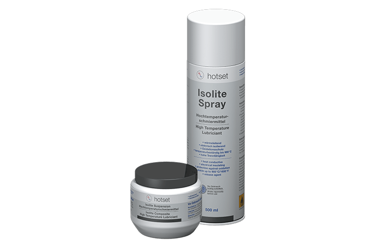 Isolite ceramic lubricant - high temperature boron nitride based lubricant.