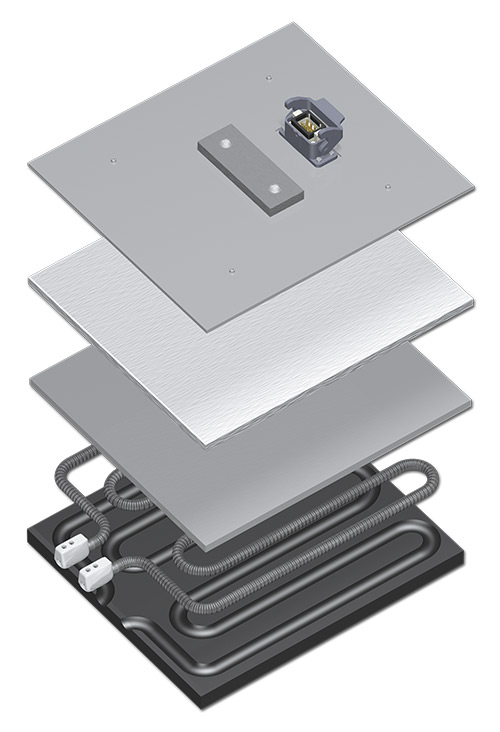 The P-System is used for thermoforming or thermoforming of blister packs and plastic trays
